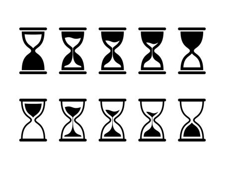 Hourglass set silhouette
