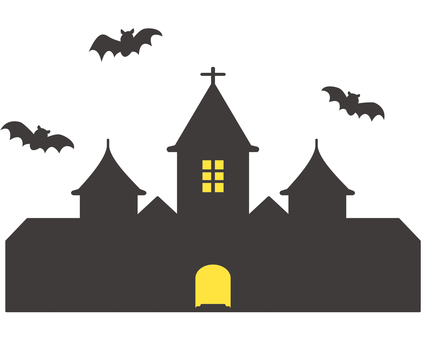 Halloween Castle and Bat 02