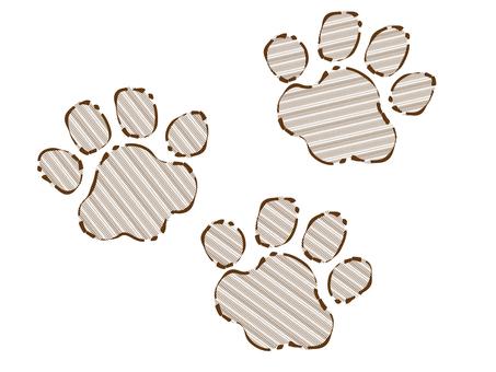 Rough line dog paws