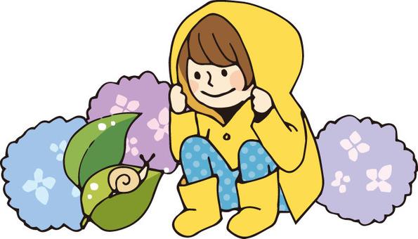 Rainy season (rain / hydrangea)
