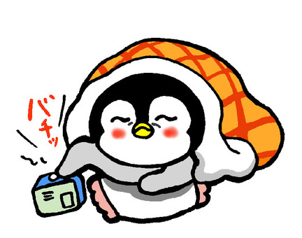 I want to sleep more penguin chick