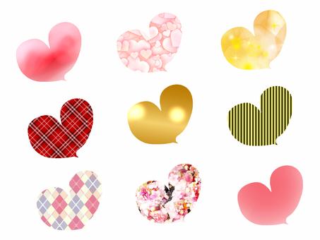 Heart's speech bubble