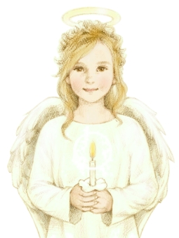 An angel with a candle