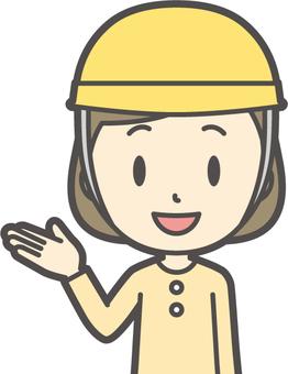 Girl yellow long sleeve -130- bust