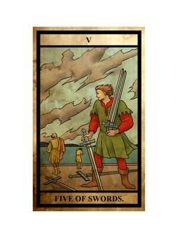 Tarot sword 5