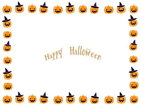 Halloween frame ⑱ (pumpkin frame)