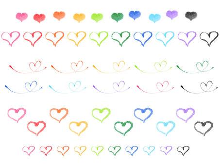 """""""Handwritten Material"""" Heart Various"""