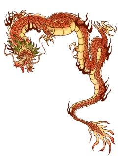 Dragon Chinese style illustration