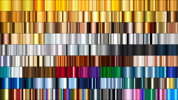 144 kinds of gradation materials