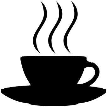 실루엣 커피 컵