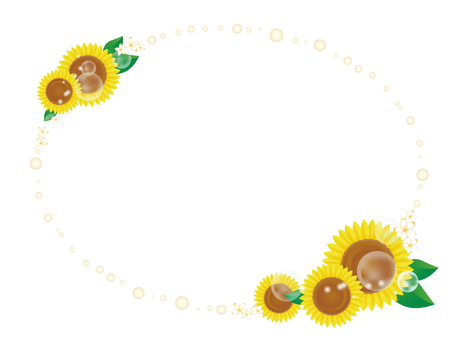 Sunflower decorative frame 7
