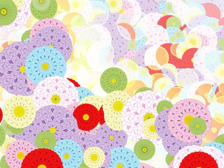 Japanese pattern background Dahlia
