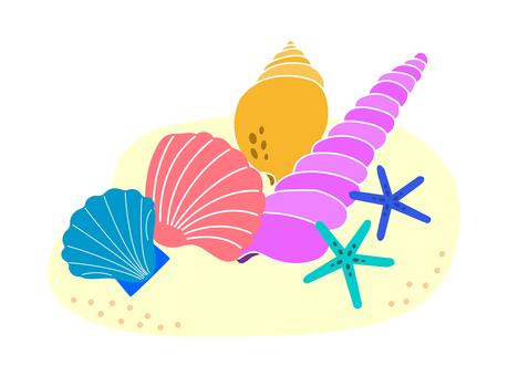 Seashell on the sand