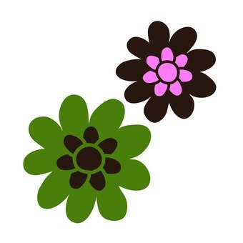 Green and brown flowers
