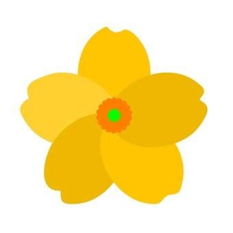 Flower motif yellow