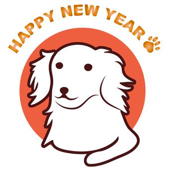 New Year's card dog 6