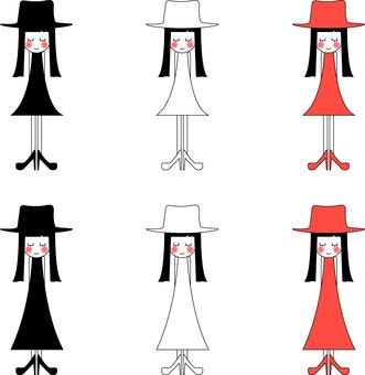 Hat woman _ skirt