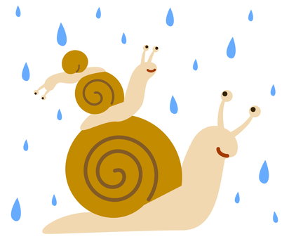 Snail on a rainy day