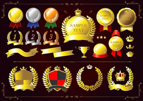Medal emblem laurel laurel