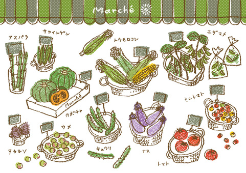 Summer vegetables and fruits 1