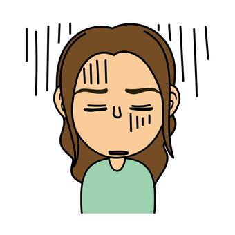 Girl _D Depressed expression