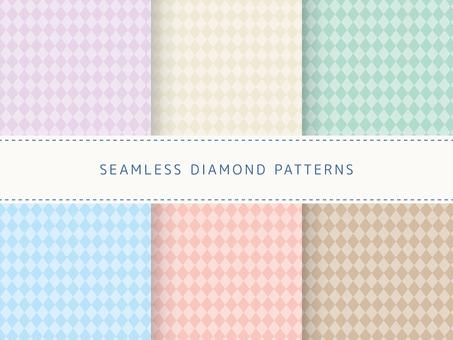 Seamless pattern set of diamond pattern