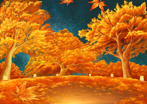 Autumn leaves light up background 02