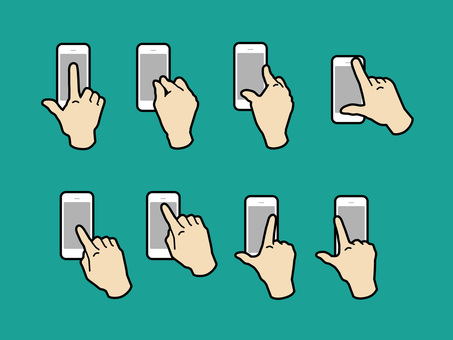 Hand and finger to operate smartphone 03