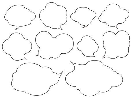 Handwritten wind speech bubble