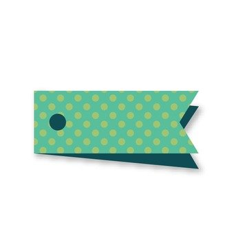 Polka dot tag (blue)