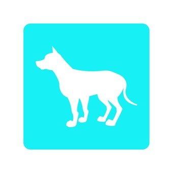 Dog - whole body silhouette icon