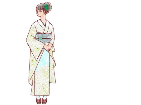 Dango hair hair kimono girls (only for people)