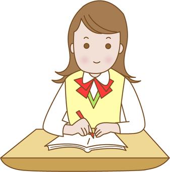교실의 여학생