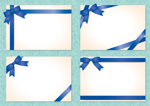 Frame with ribbon (blue)