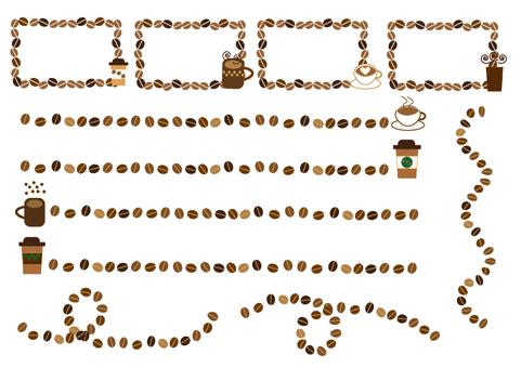 Coffee bean frame set