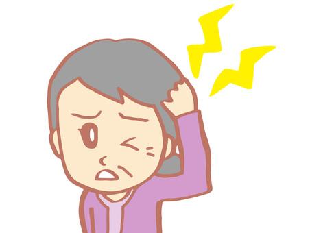 Headache (elderly female)