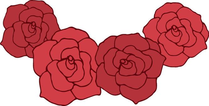 꽃 (장미 빨강 화환)