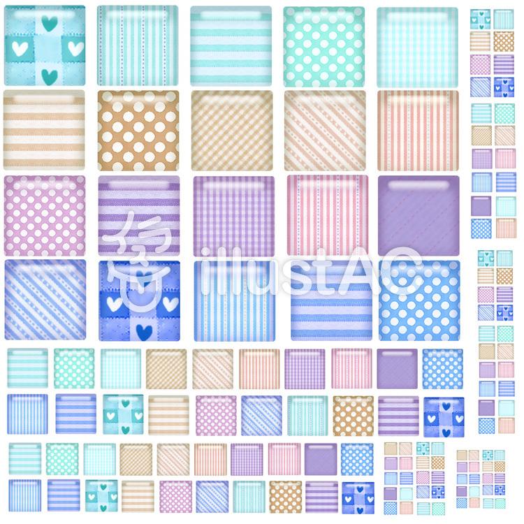 四角アイコンセット2のイラスト