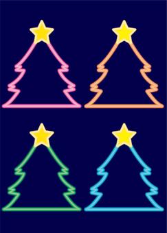 Christmas neon tree