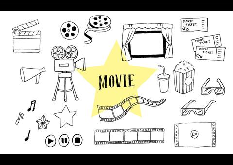 手寫的電影的插圖集