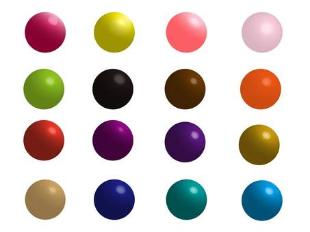 Glossy colorful sphere set