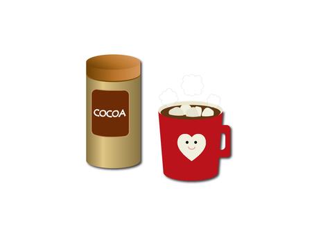 Illustrative material of marshmallow cocoa