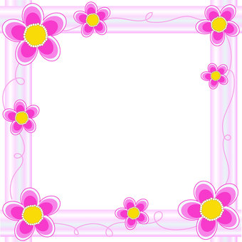 Pink flowers and stripes 2