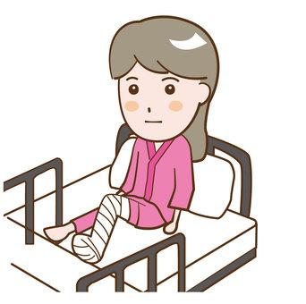 Female hospitalization injury