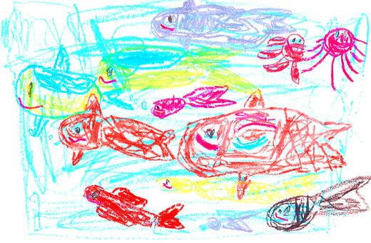 [손] 바다 속을 헤엄 치는 물고기들