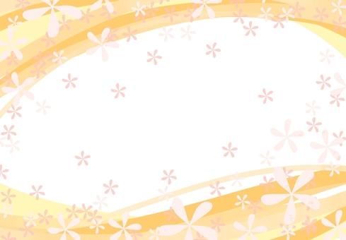 꽃 무늬 프레임 (노랑)