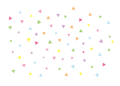 Triangular colorful confetti