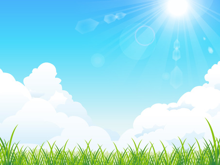 Summer sunshine and grassy background (RGB)