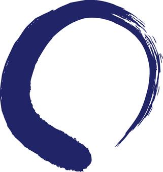 Blue brush circle