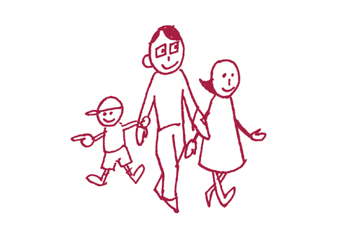 Rustic family _ walk → _